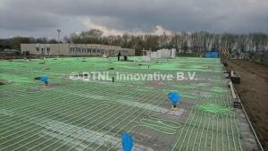 Vloerverwarmingsysteem afgevuld met energiebesparende vloeistoffen