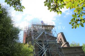 Aanzicht steigerwerk Monumenten Herstel Rotterdam